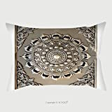 Custom Satin Pillowcase Protector Decorative Art Of Lanna Thai Engraving Of The Silver Value 98181833 Pillow Case Covers Decorative