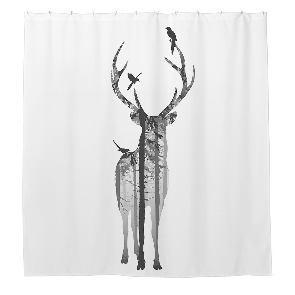 JKYUKO Unique Zebra Polyester Waterproof Shower Curtain 60 X 72 DW-201