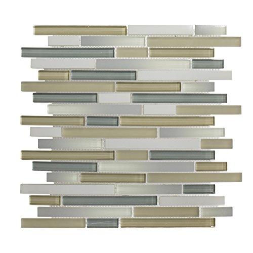 Jeffrey Court 75005 Dreamcicle Mosaic Tile, Glass, 11.437...