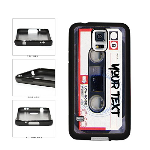 BleuReign(TM) Personalized Custom Name Mixtape Cassette TPU RUBBER SILICONE Phone Case Back Cover For Samsung Galaxy S5 (Cassette Case Galaxy S5)