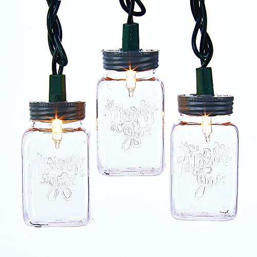 Kurt Adler UL 10-Light Clear Mason Jar Light Set (Outdoor Mason Jar Lights compare prices)