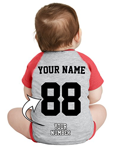 Custom Baby Baseball Jerseys & Onesies - Personalized Raglan Jersey T Shirts For - Custom Bib Baby Infant