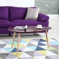 Mid Century Modern Colorful Coffee Table (Purple)