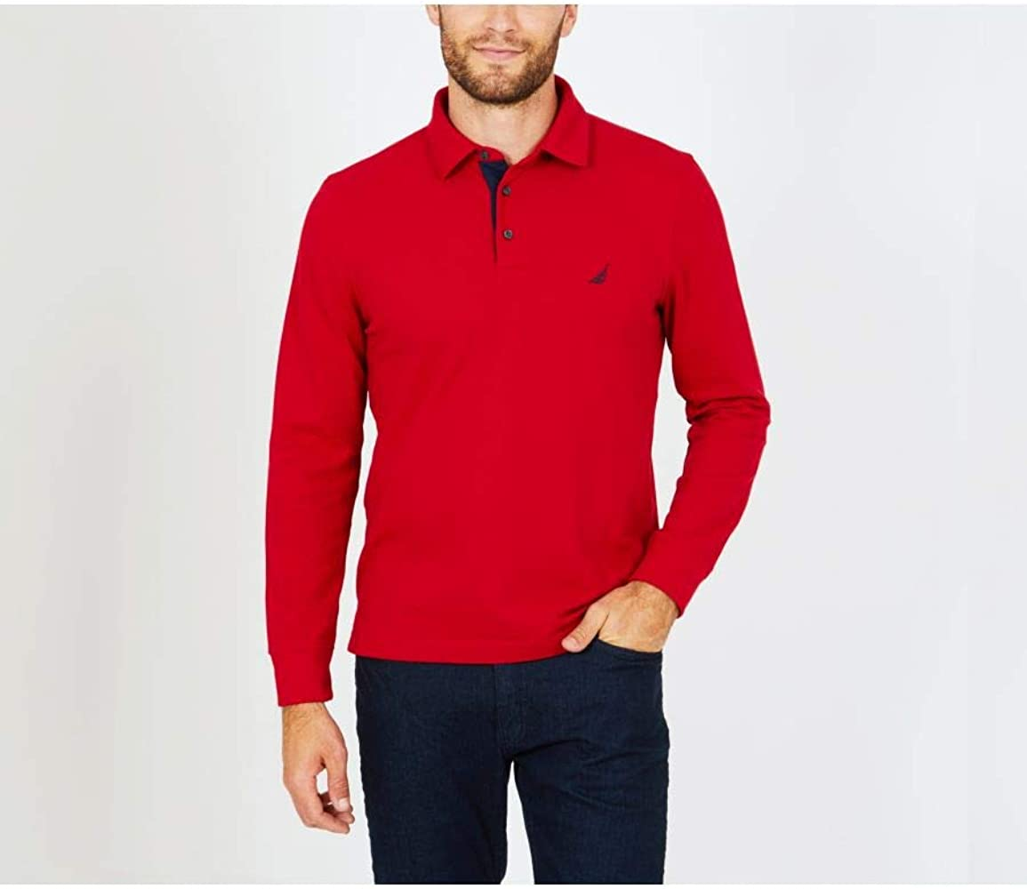 Nautica Polo de Sport Color Rojo (S): Amazon.es: Ropa y accesorios
