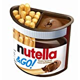 Original Ferrero Nutella And Go Hazelnut Spread With Cocoa And Bread Sticks Imported From The UK England The Very Best Of British Chocolate Dip Nutella Hazelnut Spread with Cocoa and Breadsticks 48g