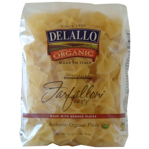 DeLallo Organic Farfalloni #88, 16-Ounce Units (Pack of 16) ()