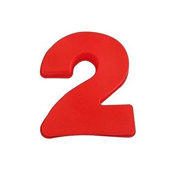 1 UNID 0-8 Caucho Digital de Silicona Suave 3D Hornear Número de Moldes Para Hornear Moldes para Bodas Cumpleaños Aniversario Baby Shower (2#): Amazon.es: ...