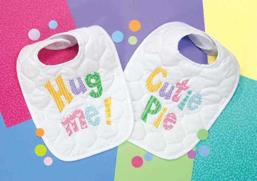 Dimensions Stamped Cross Stitch 'Hug Me' and 'Cutie Pie' DIY Baby Bibs, 2 pc, 9