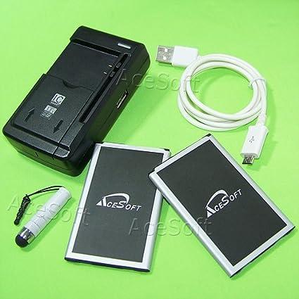 Amazon.com: [LG K10 Batería Combo Pack] 2 x 2400 mAh batería ...