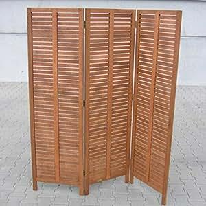 Biombo Biombo de madera de eucalipto, certificación FSC)