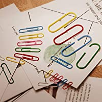 50mm Office Supply 100mm for Papers AIEX 250 Pcs Paper Clips Coloured Paper Clips Small Large Paper Clips 28mm School