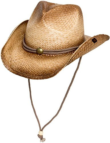 Peter Grimm Mens Straw Round Up Cowboy Hat, Ombre ()