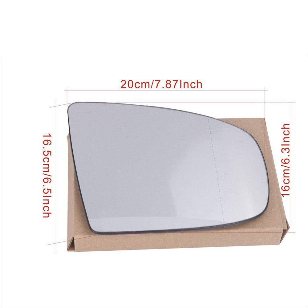 Ricoy F/ür X6 X5 E70 E71 E72 Linke Seite Beheizter Spiegel Seitenwinkel Wei/ß Links Asph/ärische R/ückseite Glas Nicht Get/önt