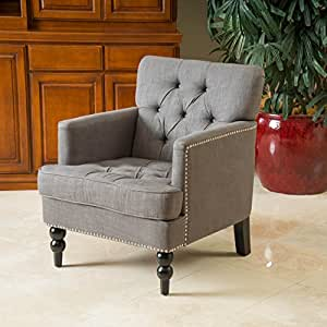 Medford Charcoal Grey Fabric Club Chair