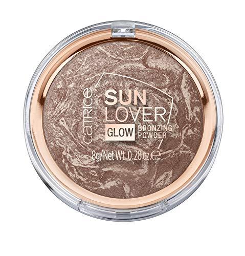 Catrice Sun Lover Glow Bronzing Powder (010 Sun-Kissed Bronze) - Silky Soft Baked Bronzing Powder, Vegan (Best Of Catrice Makeup)