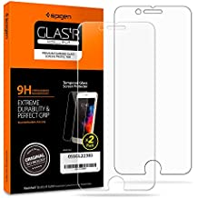 Spigen iPhone 8 Plus Screen Protector [ Tempered Glass x 2 ] [ Case Friendly ] 2 Pack for Apple iPhone 8 Plus (2017)