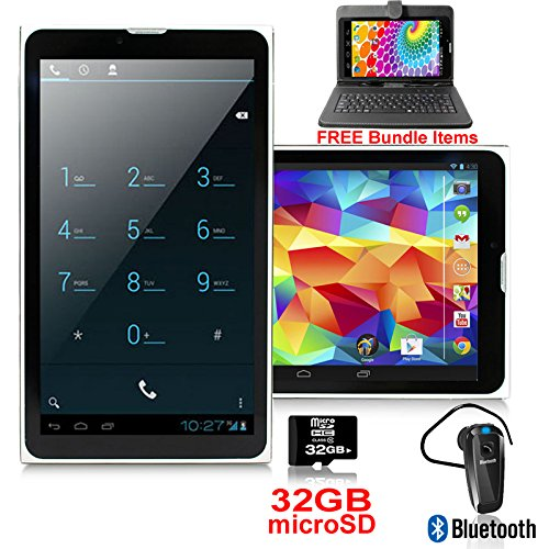 """Indigi Phablet 2-in-1 Smartphone 3G + WiFi Tablet PC 7"""" LCD Android 4.4 - Free Bundle!"""