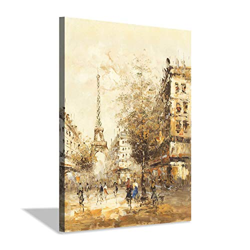 Hardy Gallery Eiffel Art Paris Buildings Picture: Tower in Gold Square Gold Foil Art Print for Wall Decor ()