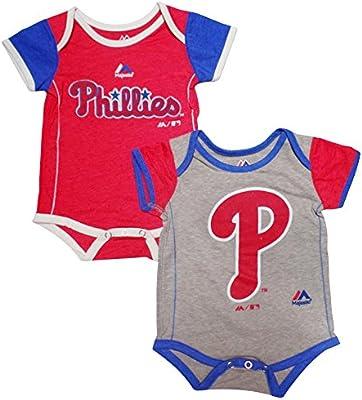 f2e940c19 Amazon.com  Philadelphia Phillies Baby   Infant 2 Piece Creeper Set ...