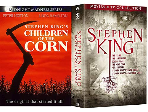 TV 8 Kings Horror Film Collection Stephen The Dead Zone/Pet Semetary/Silver Bullet / Graveyard Shift / Children of the Corn / Stand / Langoliers / Golden Years DVD Movie Chilling Master of Suspense