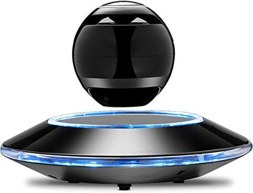 Infinity Orb Levitating Bluetooth Speakers Magnetic Wireless Floating Speaker with LED Light for Hands-Free Call and Music Play Black
