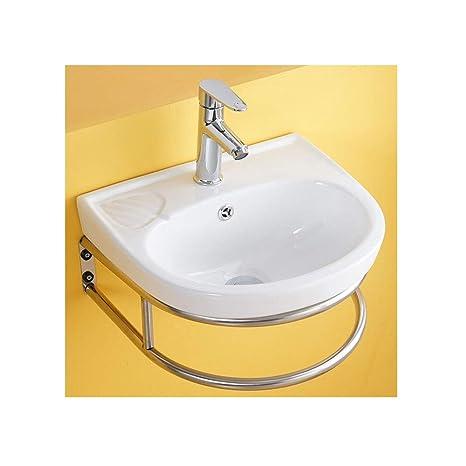 Lavabo de baño Soporte de acero inoxidable montado en la ...
