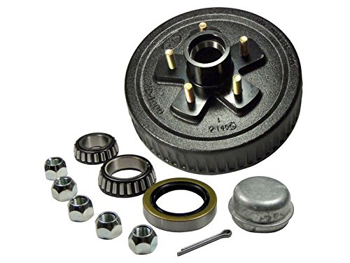 Rigid Hitch Trailer Hub-Drum Assembly (HD-1000-04-A) 5-Bolt on 4-1/2