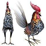 ZevenMart Metal Sculpture Carved Iron Rooster Home Furnishing Articles Artwork Vivid For Home Decoration Accessories