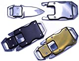 3 Pack - Knife Buckles with Safety Latches - Great for Paracord Bracelets or Keyfobs