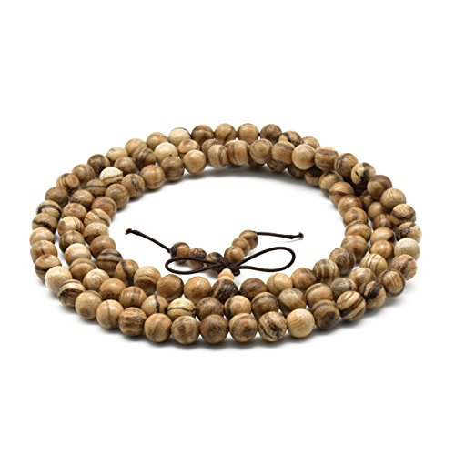 Zen Dear Unisex Natural Oud Agarwood Vietnam Buddhist Prayer Beads Japa Mala Necklace Bracelet Beads