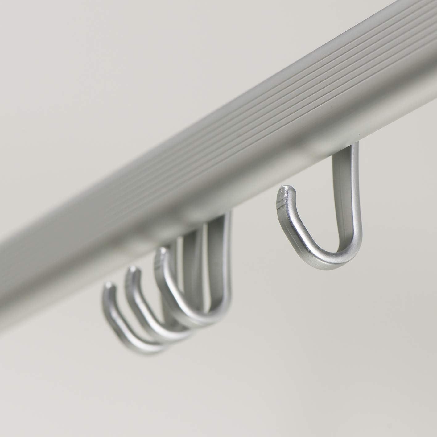 Sealskin Komplett Set Easy Roll Duschvorhangstange Chrom matt Duschvorhanghalterung zur individuellen Montage auf Ma/ß