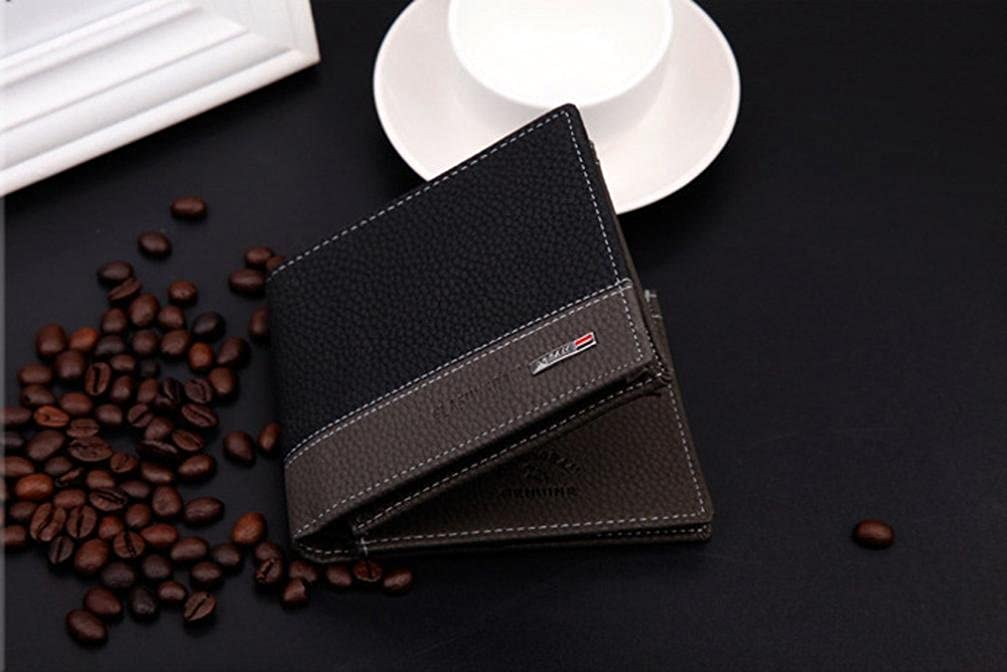 Egmy/® Quality Product Mens Leather Bifold Card Holder Wallet Coin Purse Pockets