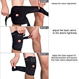 WOBAOS Knee Brace Support For Arthritis, ACL, Running, Basketball, Meniscus Tear, Sports, Athletic. Open Patella Protector Wrap, Neoprene, Non-Bulky, Relieves Pain