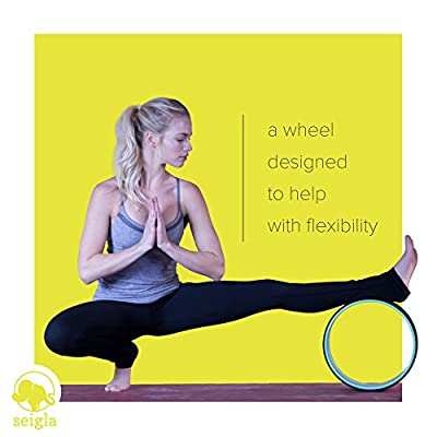 "Yoga Wheel Basic 12"" by Seigla - Perfect Backbends, Poses and Balance Trainers - Stretch Your Back, Chest and Spine"