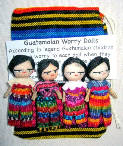 - Worry Dolls Large Boy Pouch Contains 4 2