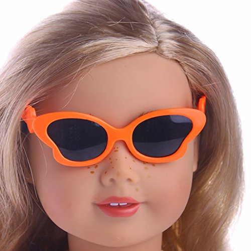 MonkeyJack 5Pcs Adorable Eye Glasses Sunglasses for 18inch American Girl Hannah Journey Dolls Dress up Accessories