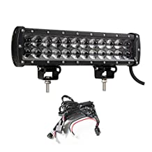 SUFE 12 INCH 72W 4D CREE LED Light Bar With Projector IP68 With Wiring Harness Kit For Offroad UTV SUV JEEP Truck Driving Bar Lights