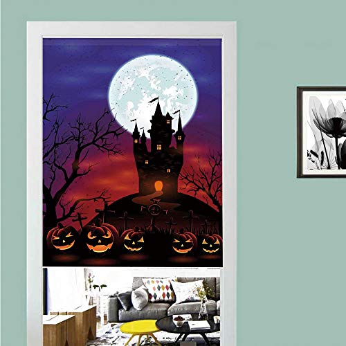 3D printed Magic Stickers Door Curtain,Halloween Decorations,Gothic Haunted