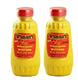 Weber`s Premium Horseradish Prepared Mustard Squeeze Bottle (2) 12 Oz. Containers