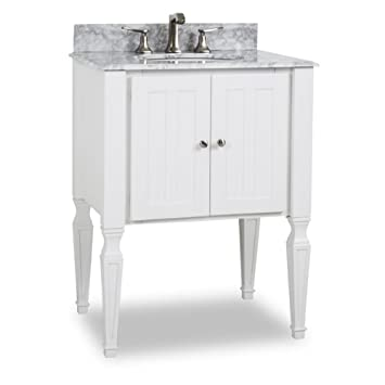 Elements VAN059 T MW Jensen Vanity, Painted White