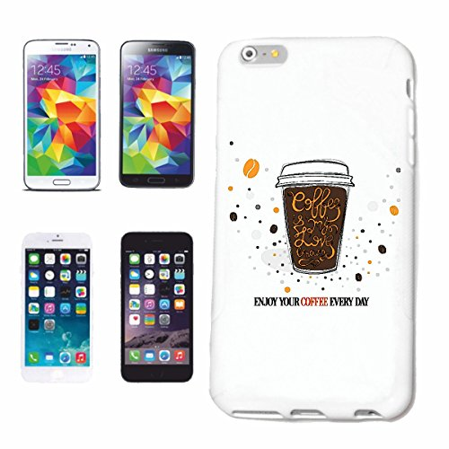 "cas de téléphone iPhone 7 ""CAFÉ FROID EN MUG GRAINS DE CAFÉ CAFé LATTE LATTE CAPPUCCINO CAFETERIA"" Hard Case Cover Téléphone Covers Smart Cover pour Apple iPhone en blanc"