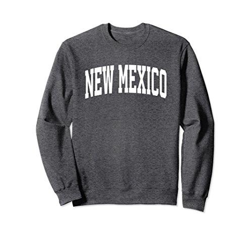 Unisex New Mexico Crewneck Sweatshirt Sports College Style State US Large Dark Heather