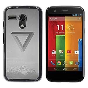 Be Good Phone Accessory // Dura Cáscara cubierta Protectora Caso Carcasa Funda de Protección para Motorola Moto G 1 1ST Gen I X1032 // Optical Illusion Band Music Black White