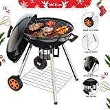 Charcoal Grill, 22.5 inch Diameter One-touch Clean System(Ash Leak) Premium Charcoal Grill, Thickened Material Temperature Thermal Control and Insulation- Enjoy Your BBQ Time(Suitable for 5-12 people) Review