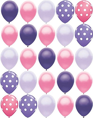 25ct Polka Dot PRINCESS MIX Pearl Purple & Pink 11