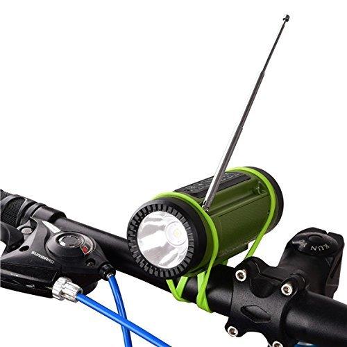 Morjava PL-89 Portable Multi- function Bluetooth Speaker Wireless Speakers with 4000MAH Emergency Power Bank LED Flashlight FM Outdoor Blike Light Speaker -Black by Morjava (Image #1)