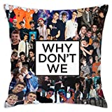 Cotton WHY_5_D0n_t Square Throw Pillow Case Shell Decorative Cushion Cover Pillowcase