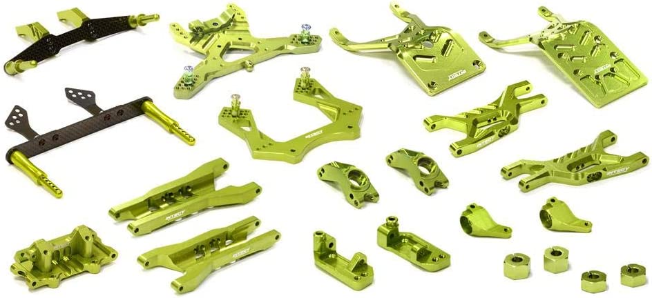 Integy RC Model Hop-ups T8651GREEN Billet Machined T3 Complete Suspension Kit for 1/10 Stampede 2WD 51iruZTWmCLSL1000_