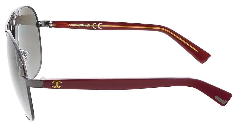 Just Cavalli JC 509 20A Black/Red Aviator Sunglasses