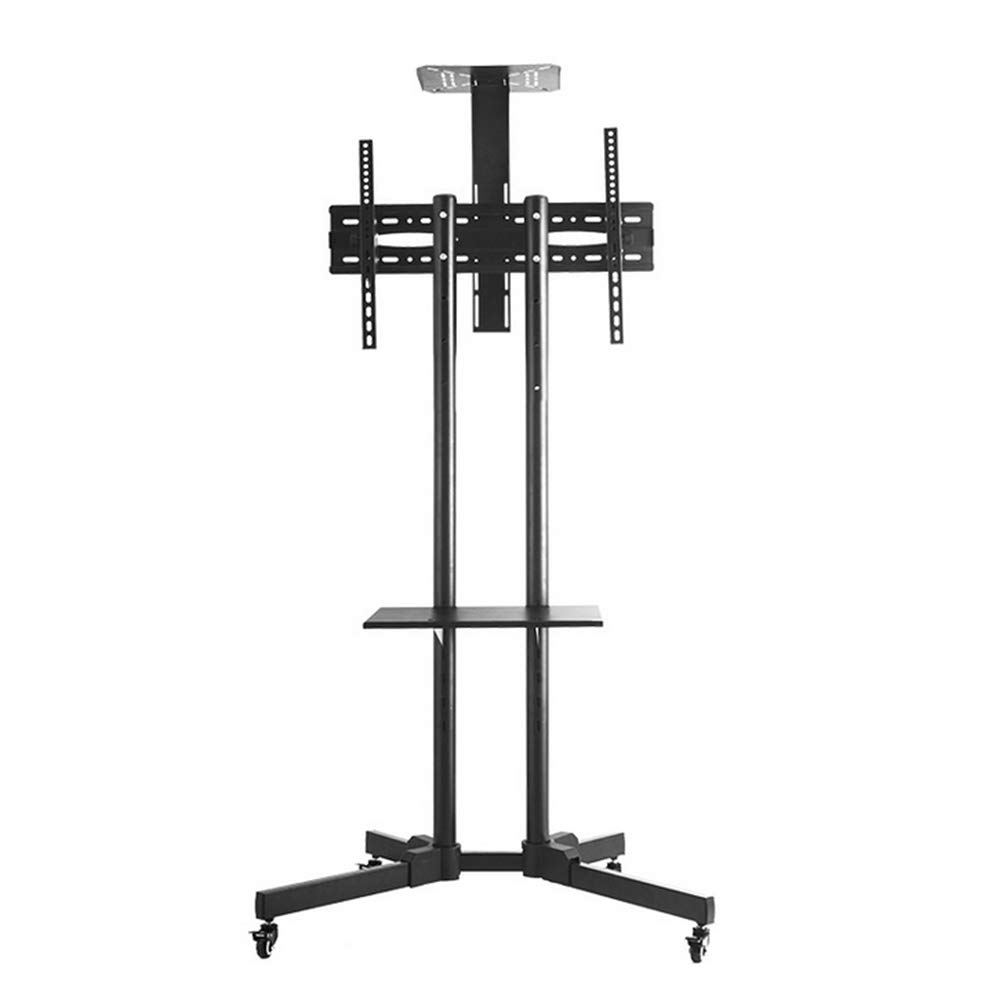 Mobile TV Cart, FOME Adjustable Height Universal Mobile TV Cart TV Trolley Stand TV Stand with Mount Wheels with Camera Shelf for 32-65 Inch LED LCD Plasma Display up to 100 lbs
